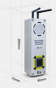 Dimensi Electrostatic Monitoring Eliminator type SD-A