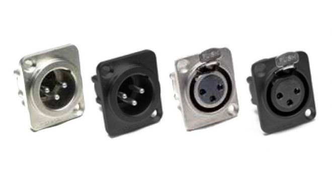.AX Series Chassis Mount, XLR Connectors-Amphenol