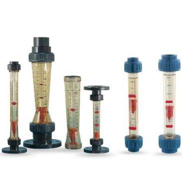 Model KSK KSM VKN Variable area - flow meter plastic measuring tube